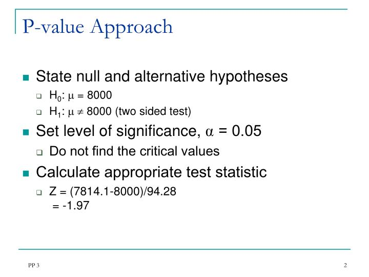 arithmetic mean and five step p value approach Using the price-to-earnings harmonic mean to improve firm valuation estimates to value a firm is the comparables approach this arithmetic mean p/e value.