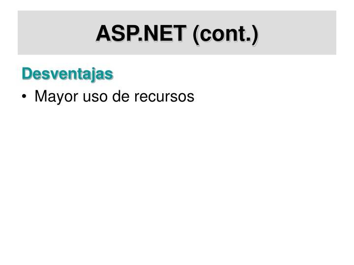 ASP.NET (cont.)