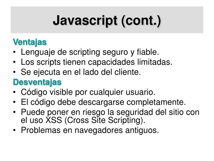 Javascript (cont.)