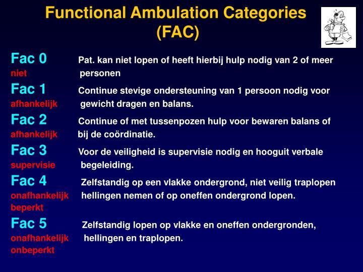 Functional Ambulation Categories