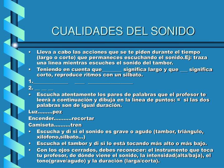CUALIDADES DEL SONIDO
