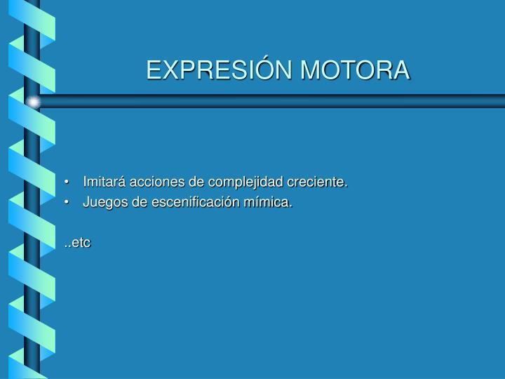 EXPRESIÓN MOTORA