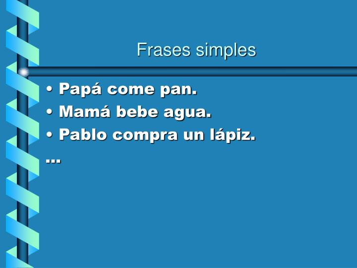 Frases simples