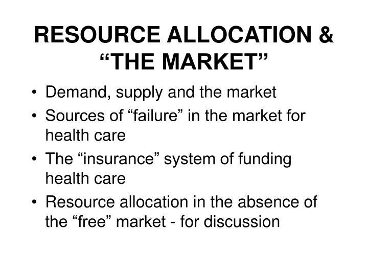 resource allocation the market
