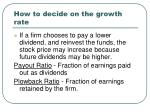 how to decide on the growth rate