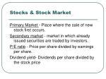 stocks stock market