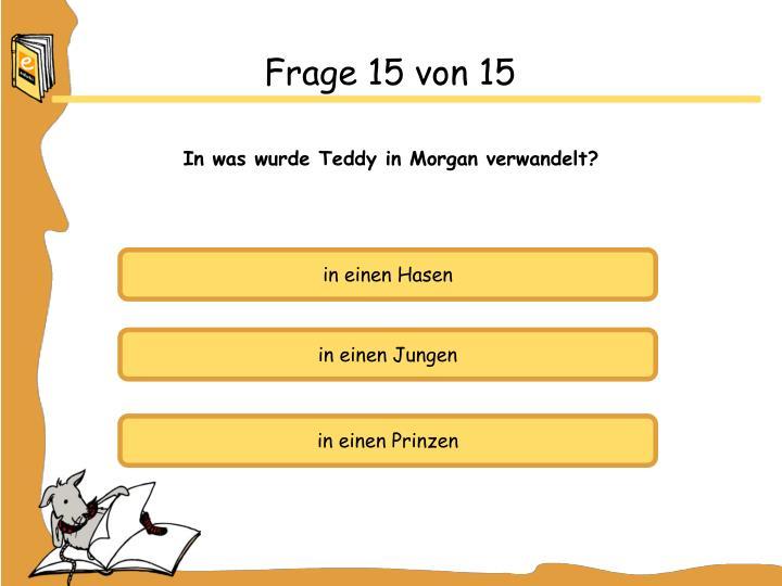 Frage 15 von 15