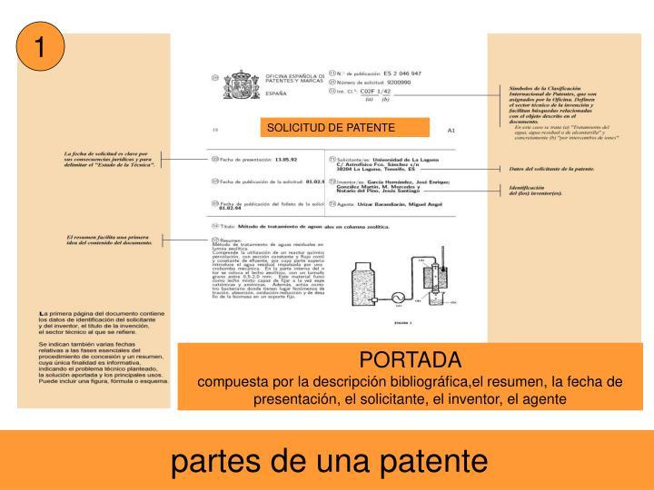 SOLICITUD DE PATENTE