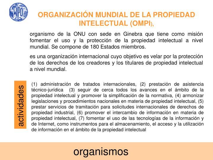 ORGANIZACIÓN MUNDIAL DE LA PROPIEDAD INTELECTUAL (OMPI
