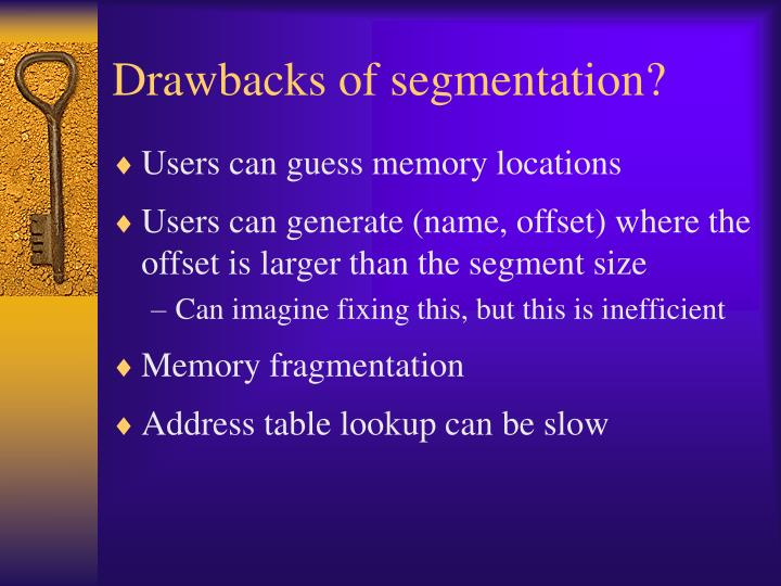 Drawbacks of segmentation?