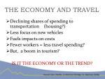 the economy and travel