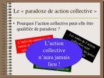 le paradoxe de action collective