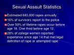 sexual assault statistics