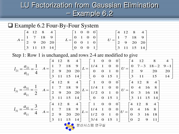 PPT - 6. LU Factorization PowerPoint Presentation - ID:909957