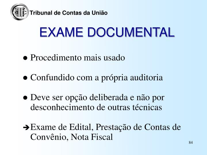 EXAME DOCUMENTAL
