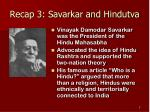 recap 3 savarkar and hindutva