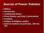 sources of power pakistan