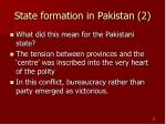 state formation in pakistan 2