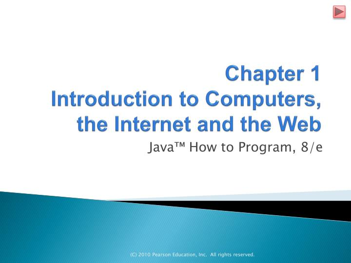 PPT Chapter 1 Introduction To Computers The Internet And