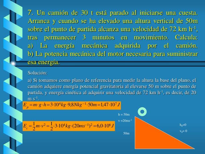 h = 50m