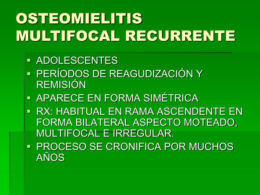 osteomielitis esclerosante de garre síntomas de diabetes