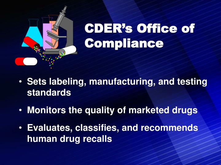 CDER's Office of Compliance