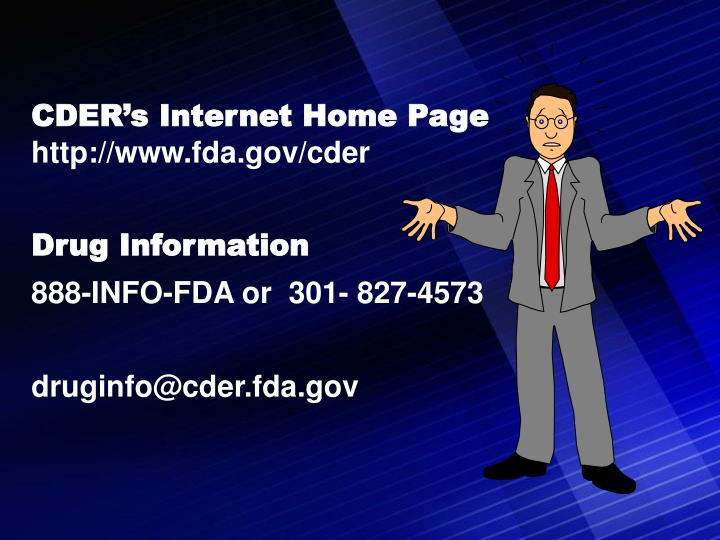 CDER's Internet Home Page