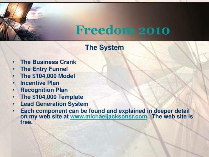 Freedom 20101
