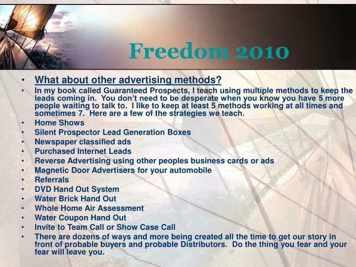 Freedom 2010