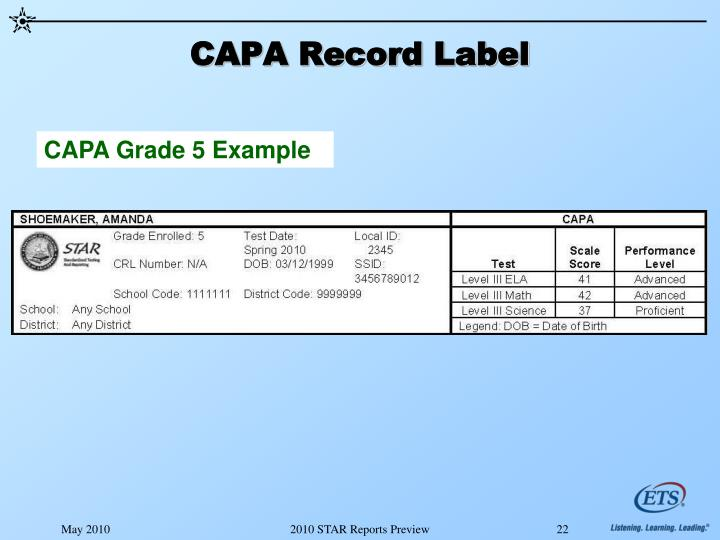 CAPA Record Label