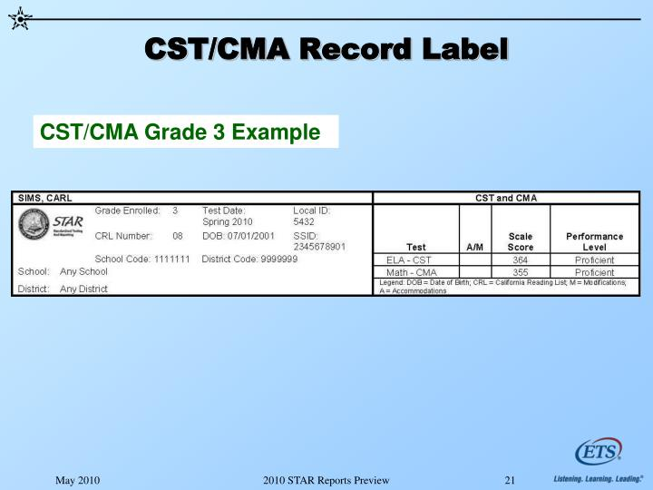 CST/CMA Record Label