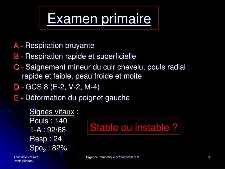 Examen primaire