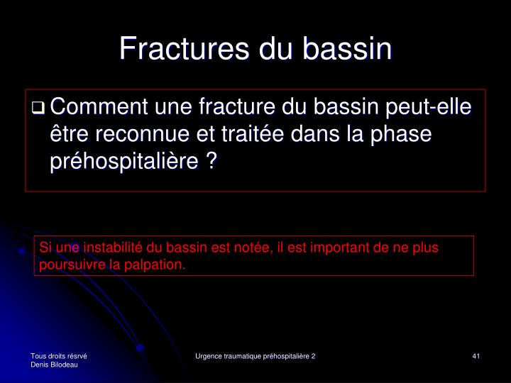 Fractures du bassin