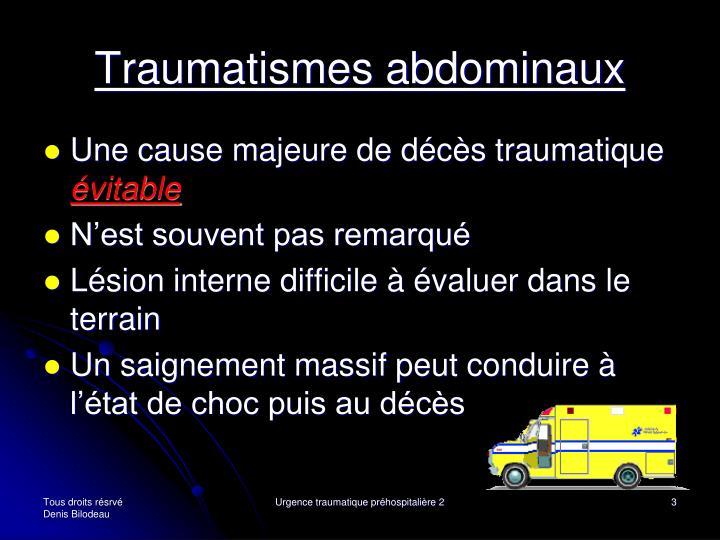 Traumatismes abdominaux1