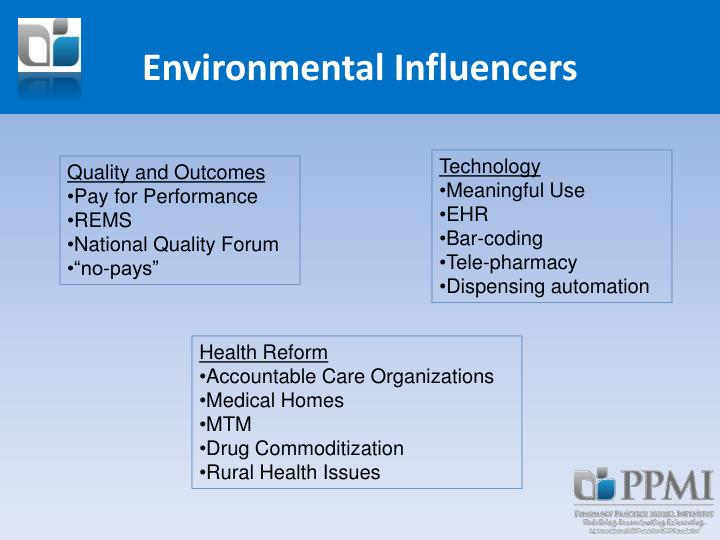 Environmental Influencers
