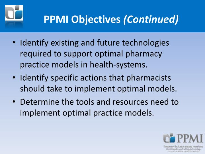 PPMI Objectives