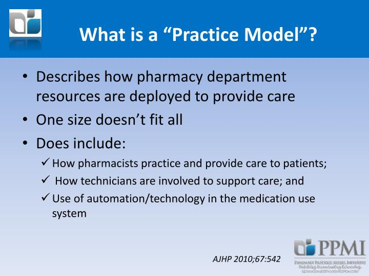 """What is a """"Practice Model""""?"""