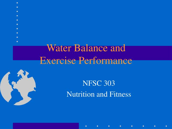 water balance and exercise performance n.