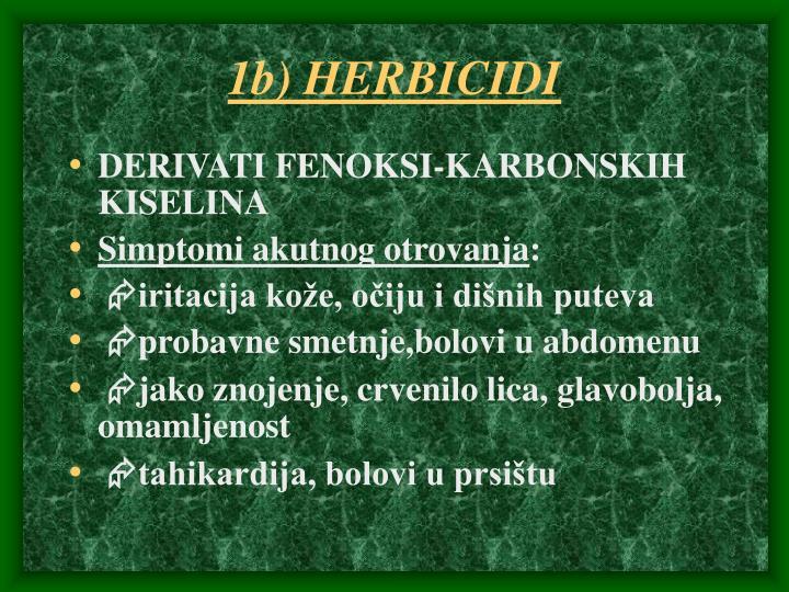 1b) HERBICIDI