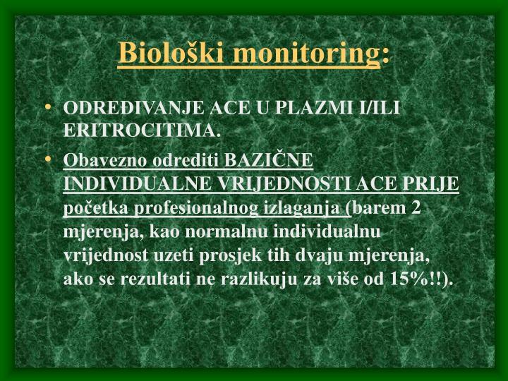 Biološki monitoring