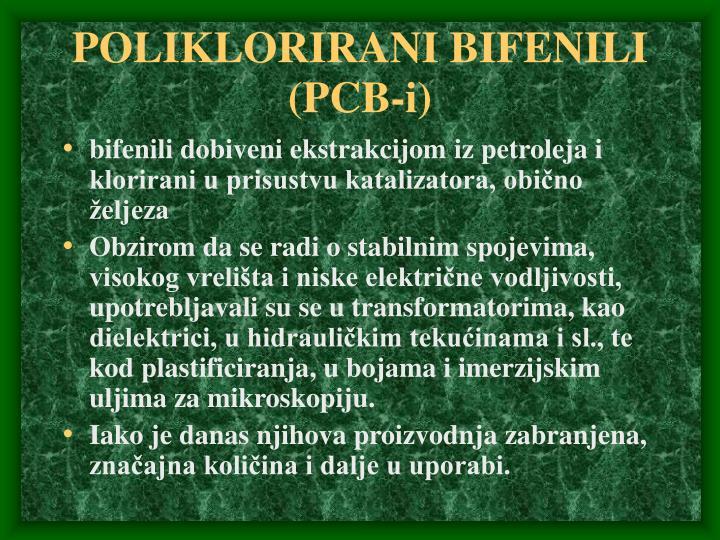 POLIKLORIRANI BIFENILI (PCB-i)