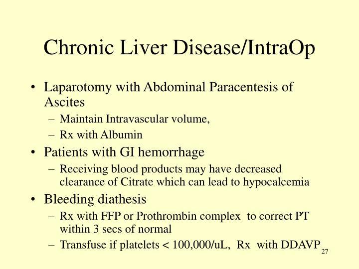Chronic Liver Disease/IntraOp