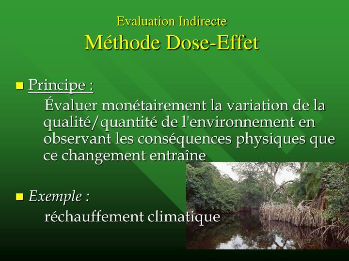 Evaluation Indirecte