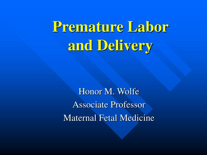 premature labor and delivery n.