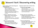 d couvrir l crit discovering writing