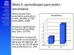meta 3 aprendizajes para todos secundaria