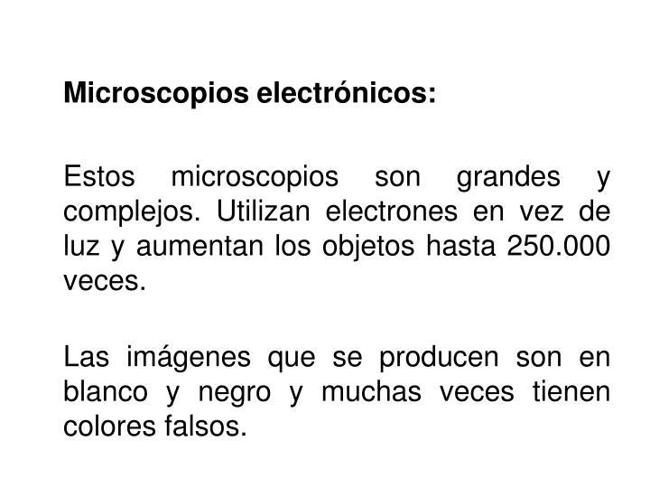 Microscopios electrónicos: