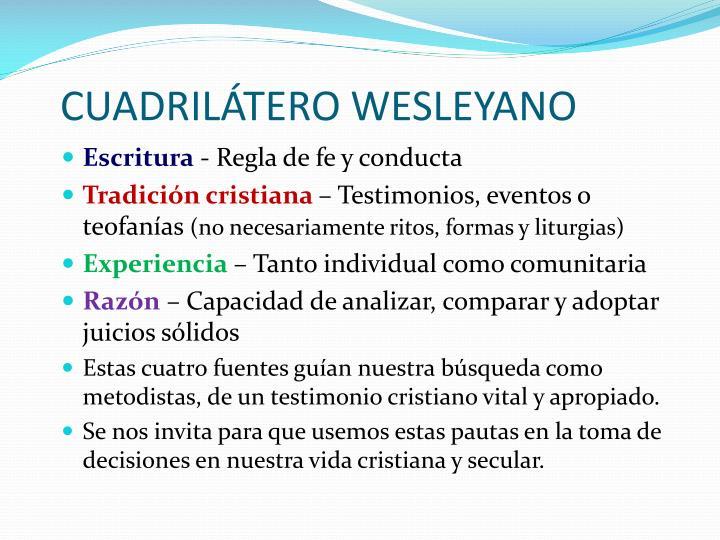 CUADRILÁTERO WESLEYANO