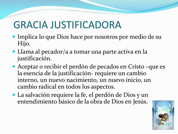 GRACIA JUSTIFICADORA