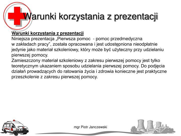 Warunki korzystania z prezentacji